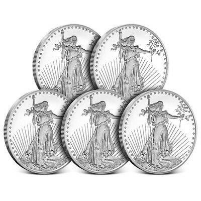 Lot of 5 - 1 oz Silver Round | Highland Mint - Saint Gaudens
