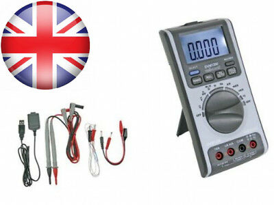 Velleman DVM1200 Digital Multi-Meter with USB Interface 6000 Counts LCD...
