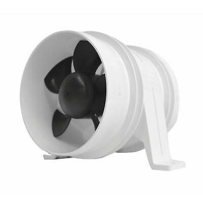 "Attwood Turbo 4000 In-Line Blowers, White 4"" (1749-1) FO-2836"