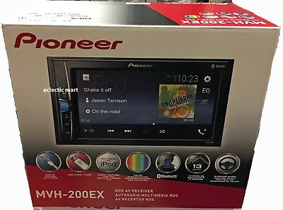 "Pioneer MVH-200EX Double-Din 6.2"" Digital Media Receiver, iPhone, Bluetooth"