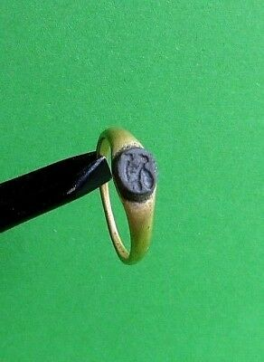 Ancient Roman 23K Gold Ring.Detector Find. 3,10g.- Wearable.