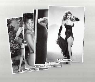 SET 1689-1692 MODELS & SHOW GIRLS GLAMOUR  PHOTO POSTCARDS FILM STAR pin up