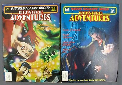 Marvel Magazine Group Bizarre Adventures #28 October 1981 & #33 December 1982 VG
