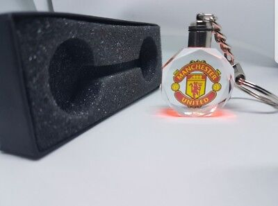 MANCHESTER UNITED LED CRYSTAL Keyring 3D KEY RING CHAIN 2019 MULTICOLOUR NEW