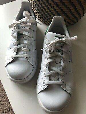 on sale cfaa9 a6c7f Adidas Women s Originals Stan Smith Bold WHT Green Leather Shoes womens Sz  5.5