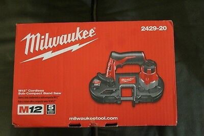 Milwaukee M12 12V Li-Ion Sub-Compact Band Saw (Bare Tool) 2429-20 New