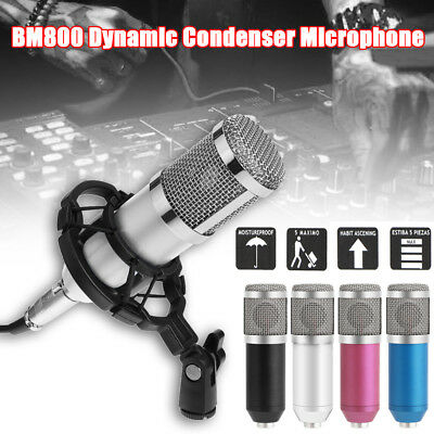 BM800 KTV Microphone Condenser Microphone Audio Studio Recording Mic w/ Stand