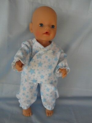 "Handmade dolls clothes (Winter Pyjamas set), fit 33cm ""Little Baby Born"" doll"