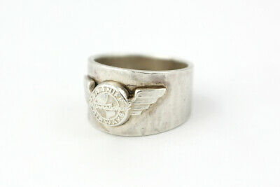 Collectible Sterling Silver Braniff International Airways Ring