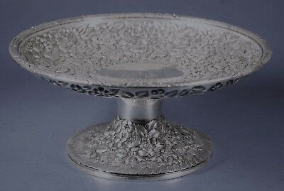STIEFF Baltimore Sterling Silver Co ROSE REPOUSSE Compote/Candy Dish 1904 STEIFF