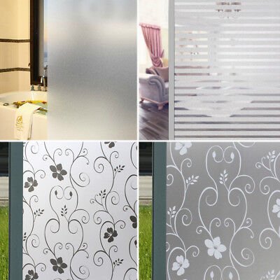 White Frosted Bedroom Bathroom Glass Window Door Privacy Film Sticker PVC 200x45