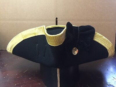 7 3/8, 7 1/2 Officers cocked hat gold bullion trim
