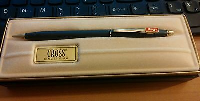 Cross pencil in box Kellogg's Brand Company name Cereal black & gold Advertising
