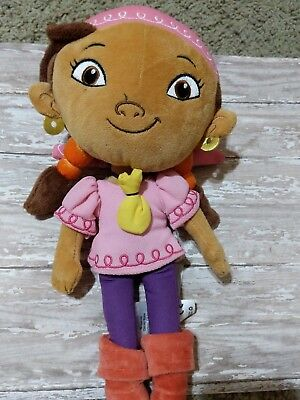 Izzy Jake and The Neverland Pirates Plush Pirate Disney store 12 inches Stuffed