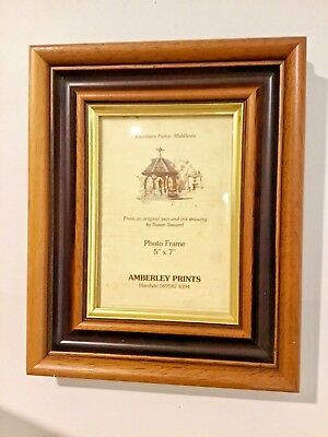 """Antique Vintage Picture Photo frame - Wooden, Brown and Gold - for 5x7"""" Prints"""