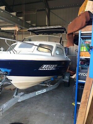 15ft 6 Mustang Cuddy Cab Boat with 85hp and electric aux.