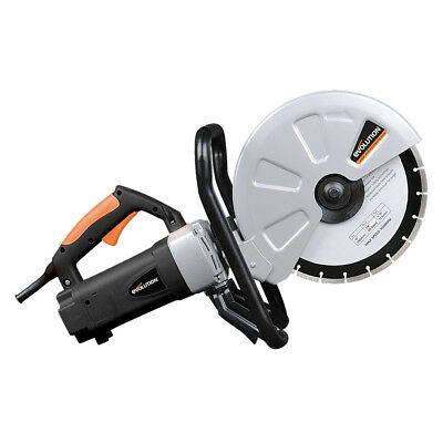 Evolution Power Tools 12 in. Concrete Saw Portable Variable Depth 15 Amp Corded