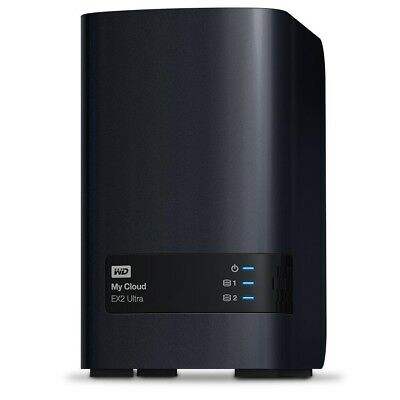 WD My Cloud EX2 Ultra 0TB 2-Bay External NAS RAID Storage Diskless