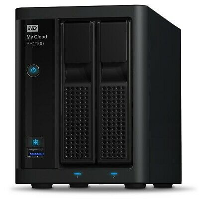 WD My Cloud PR2100 Pro Series 8TB (2x4TB) 2-Bay NAS Storage