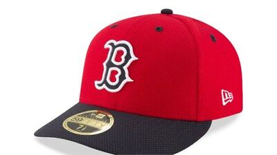 Boston Red Sox New Era MLB Diamond Era 59Fifty On Field Fitted Cap Low Profile