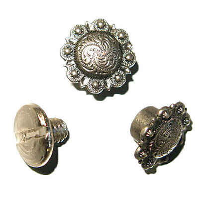 Spiral Berry Concho 10 pack Antique Nickel