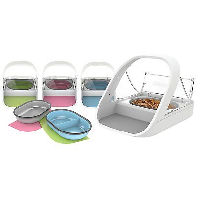 SureFlap SureFeed Microchip Sealed Pet Feeder WITH PINK, BLUE Or GREEN Set