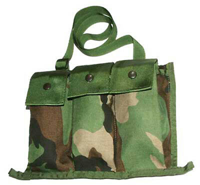 US Army Woodland Camo 6 Mag Bandoleer MOLLE Military Surplus new out of bag!