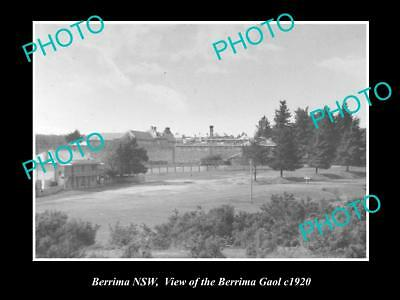 OLD LARGE HISTORIC PHOTO OF BERRIMA NSW, VIEW OF THE OLD GAOL c1920 1