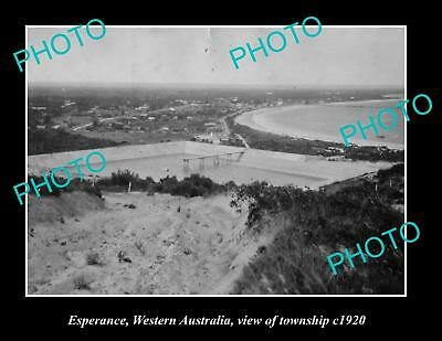 OLD LARGE HISTORIC PHOTO OF ESPERANCE WESTERN AUSTRALIA, VIEW OF TOWNSHIP c1920