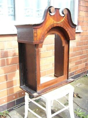 Hood For Longcase Clock.oak Cross Banded With Mahogany.circa 1820.