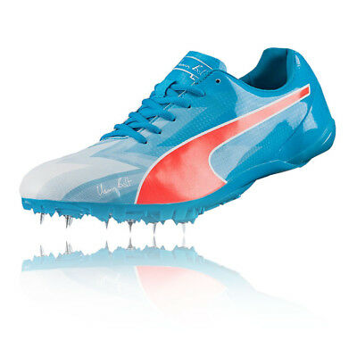Puma Bolt evoSPEED Electric v3 Mens Blue Athletic Running Spikes Shoes  Trainers e8063f4a9