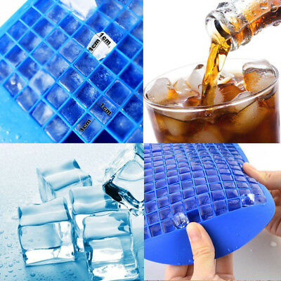 160cell Mini Ice Cube Tray Frozen Cubes Trays Silicone Mold Home Kitchen Tool UK