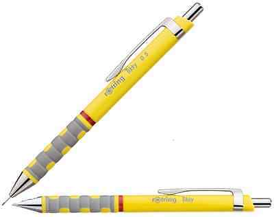 Yellow Rotring Tikky F Blue Ink Ball point Pen + Yellow Mechanical pencil 0.5mm