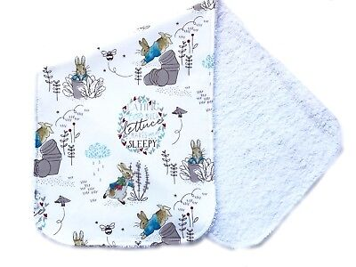 Baby Gift Burp cloth -  Peter Rabbit print
