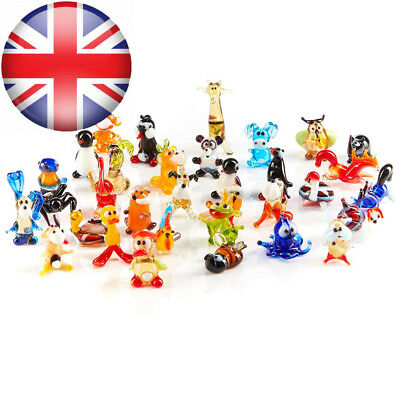 Handblown Collectable Glass Animal Miniature Figurines - Mix of 50 pieces...