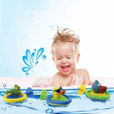 Baby Toddler Child Bathing Pull String Zoom Water Pull & go Boat Toy Amphibious