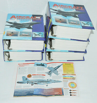 AIRCRAFT OF THE WORLD The Complete Guide 980 AIRPLANE SPEC SHEETS 5 Binders Lot