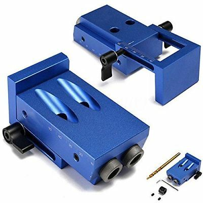 105402 Katsu Pocket Hole Drilling Jig Kit With Step Bit Woodworking Joinery Tool