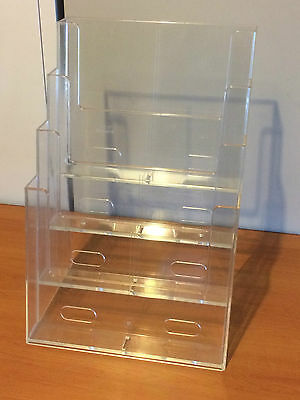 PerthPickupOnly! QUALIT TAYMAR BROCHURE HOLDER A4 DISPLAY 4POCKETS COUNTER STAND