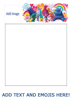 selfie board template a1 a2 personalised party prop children