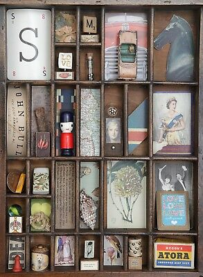 Collection of Vintage Small Collectables & Curios for Printers Tray & Cabinets