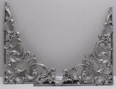 "Pair of Shelf Brackets Cast Aluminum Ornate Large 15 1/4""  x  15 1/4""  x  3/4"""