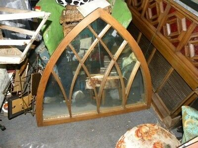 make offer. Antique Unique Mirror made from a Church Window primitive
