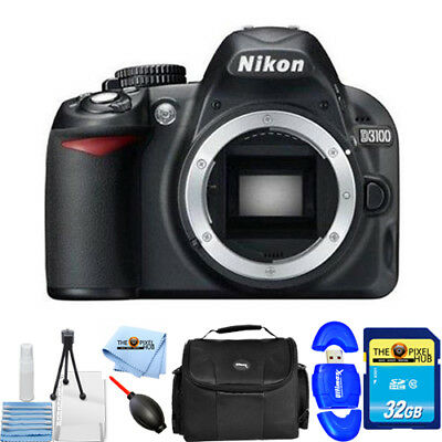 Nikon D3100 14.2MP Digital SLR Camera Black (Body Only) STARTER KIT BRAND NEW