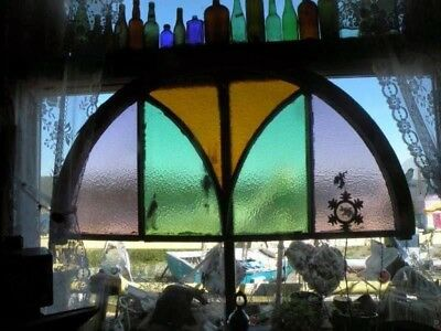 make an offer. Antique Primitive Newfoundland Stained Glass Church Window