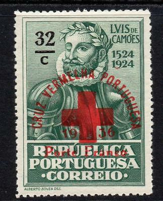Portugal 32 Cent Red Cross Stamp c1936 (Aug) Mounted Mint