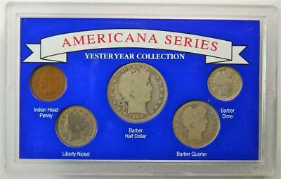 Americana Series Yesteryear Collection 5 Coint Set with Silver Coins,