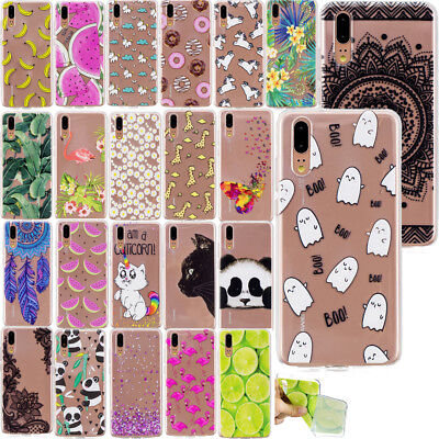 Ultra Thin Patterned Clear Soft Silicone Case Cover For Huawei P Smart P20 Lite