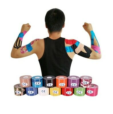 25mm 2.5cm Kinesiology Tape 5m Roll Gym Muscle Physio Support Knee Shoulder UK