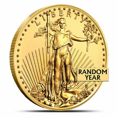 1 Oz American Gold Eagle Coin - Random Dates/Years (Our Choice) - Gem BU